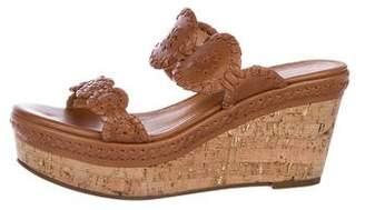 Jack Rogers Leather Slide Wedges