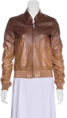 Prada Leather Gradient Jacket