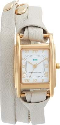 La Mer 'Milwood' Leather Wrap Watch, 35mm