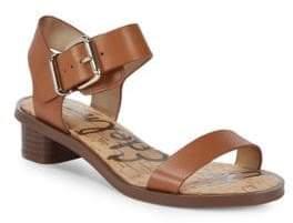 Sam Edelman Trina Heeled Leather Open Toe Sandals
