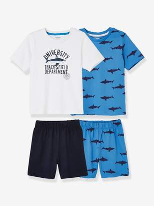 Vertbaudet Pack of 2 Mix & Match Short Pyjamas for Boys