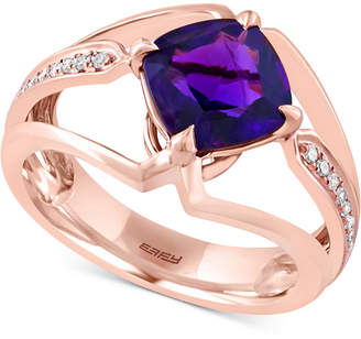 Effy Amethyst (1-3/4 ct. t.w.) & Diamond Accent Ring in 14k Rose Gold