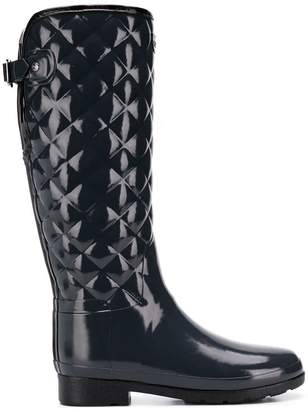 Hunter Refined tall quilted wellies