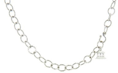 Temple St. Clair Other Designers Oval Link Chain - 16'' - 18 Karat White Gold