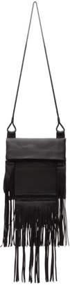 Saint Laurent Black Large Saharienne Bag