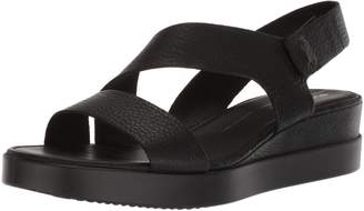Ecco Women's Touch 2-Strap Plateau Wedge Sandal