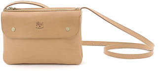 Il Bisonte Cowhide Leather Flap Crossbody Bag, Beige