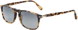 Persol PO3095S Beige & Tortoiseshell-Look Square Sunglasses