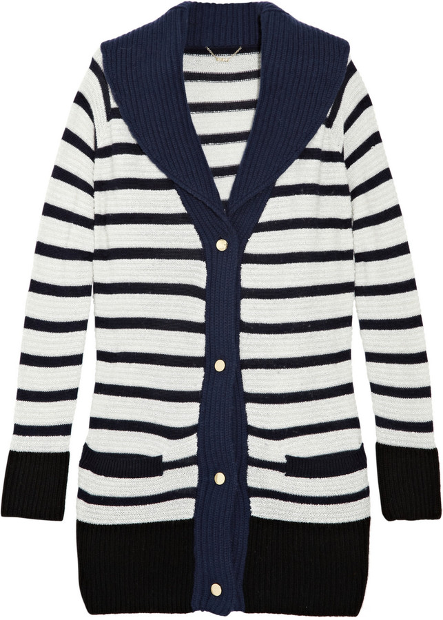 The Row Truman striped cashmere-blend cardigan