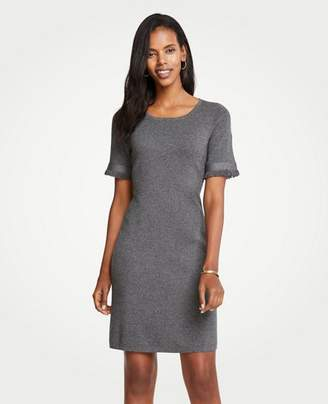Ann Taylor Petite Fringe Sleeve Sweater Dress