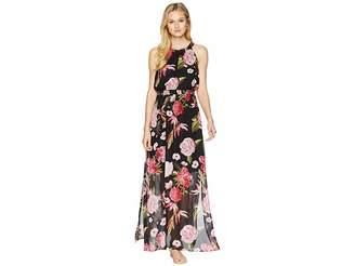 Adrianna Papell Spanish Roses Maxi Dress