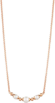 Majorica Allison Pearl & Ball Bead Necklace, Rose Golden/White