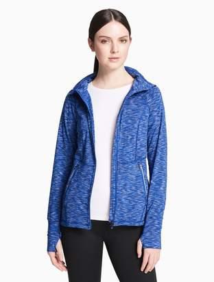 Calvin Klein space dyed high neck zip jacket