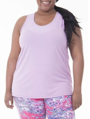 Fruit of the Loom Fit for Me by Women's Plus-Size Solid Textured Tank