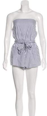 Faithfull The Brand Striped Strapless Romper