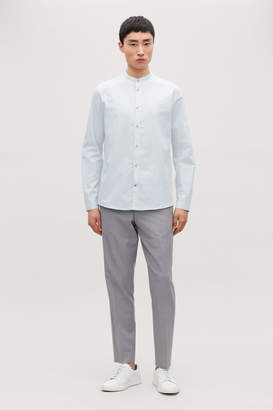 Cos COLLARLESS COTTON SHIRT