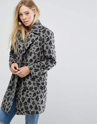 Glamorous Smart Coat In Monochrome Leopard Print $114 thestylecure.com