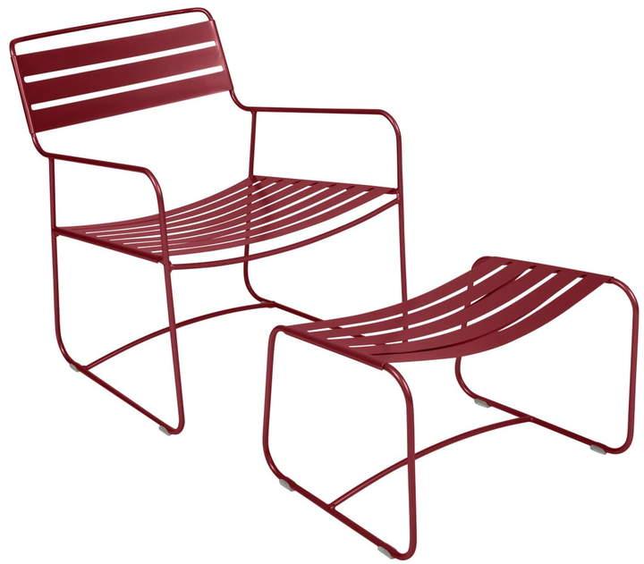 Surprising Lounger Sessel + Fußablage, chili