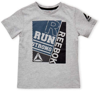 Reebok Boys 4-7) Heather Grey Run Strong Tee