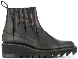 Yohji Yamamoto jagged gore ankle boots