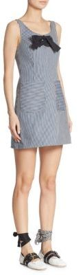 Miu Miu Miu Miu Sleeveless Striped Chambray Dress