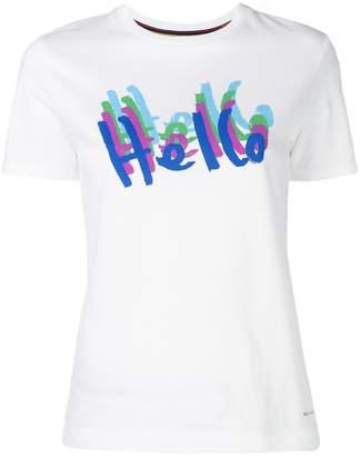 Paul Smith Hello print T-shirt