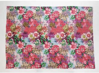 Lr Resources Inc. Floral Garden Kantha Throw Blanket