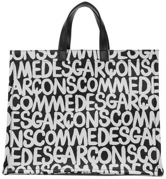 Comme des Garcons Black and White Printed Tote