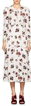 A.L.C. Women's Zandra Floral Silk Crepe Dress - Ivorybone