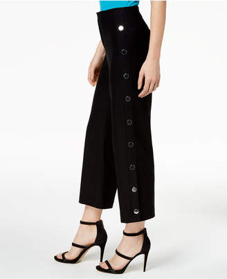 Bar III Cropped Wide-Leg Sailor Pants, Created for Macy's