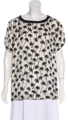 L'Agence Printed Short Sleeve Top