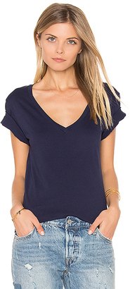 LA Made Staple V Neck Tee in Navy $37 thestylecure.com