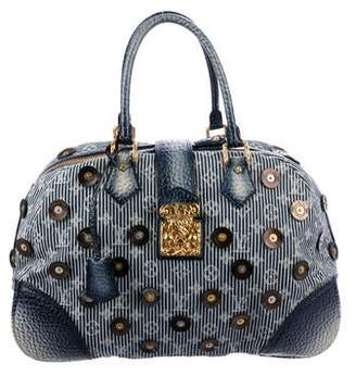 Louis Vuitton Denim Polka Dot Trunks Bowly Bag