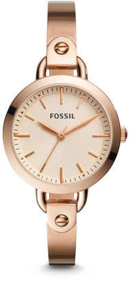 Fossil Classic Minute Three-Hand Rose Gold-Tone Stainless Steel Watch
