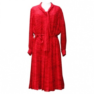 Chanel Red Silk Dresses