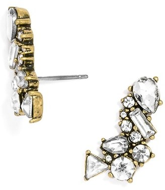 Women's Baublebar Crystal Triangle Ear Crawlers $34 thestylecure.com