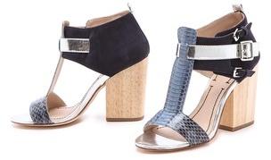 Elizabeth and James Carri Chunky Heel Sandals