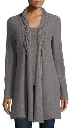 Neiman Marcus Cashmere Collection Cashmere Reverse Braided Cardigan $445 thestylecure.com