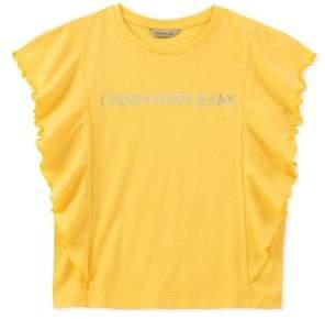 Calvin Klein Jeans Girl's Ruffle Top