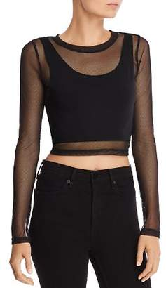 Honey Punch Mesh Underlay Crop Top
