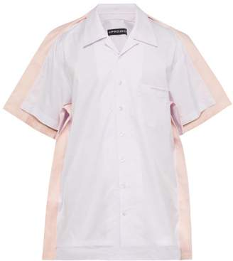 Y/Project Peach Trimmed Cotton Poplin Bowling Shirt - Mens - Light Pink
