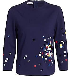 Akris Punto Women's Pixel Studded Jersey Top