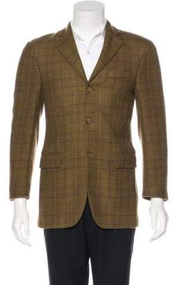 Burberry Wool Plaid Blazer