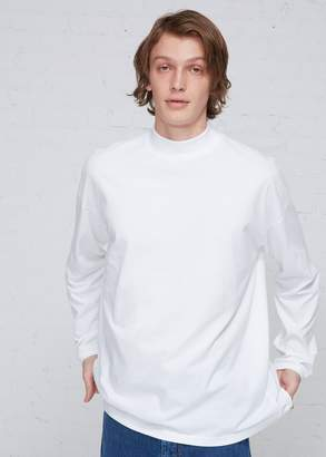 Martine Rose Classic Logo Funnel Neck Long Sleeve T-shirt