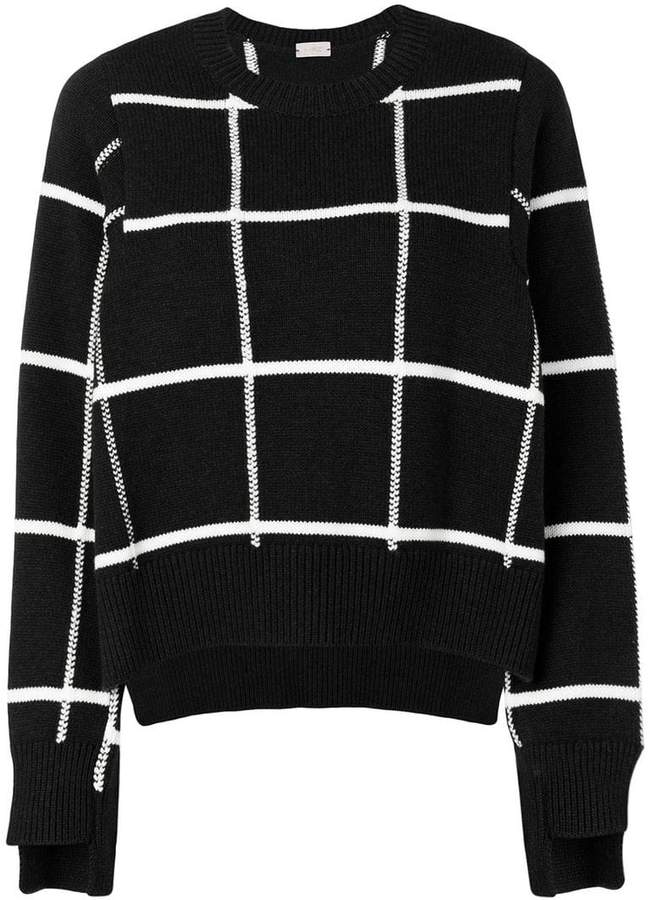 MRZ grid patterned sweater
