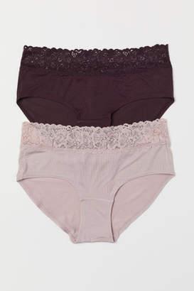 H&M 2-pack Jersey Hipster Briefs - Purple