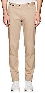 Hiltl Men's Stretch-Cotton Slim Trousers-Beige, Tan Size 32