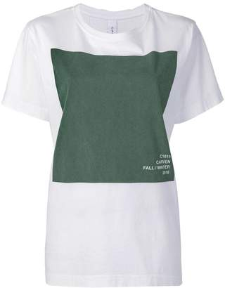 Carven graphic print oversized T-shirt