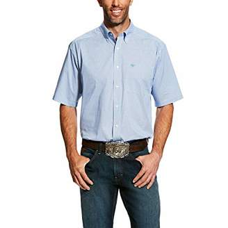 Ariat Men's Big and Tall Classic Fit Short Sleeve Button Down Stretch Shirt