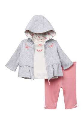 Little Me Bountiful Jacket, Top. & Leggings Set (Baby Girls)